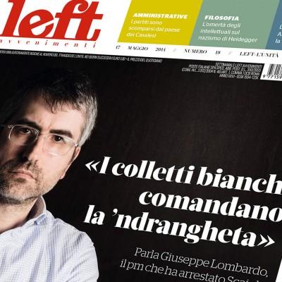 LEFT - Copertina Giuseppe Lombardo - Fotografo Alessandro Mallamaci